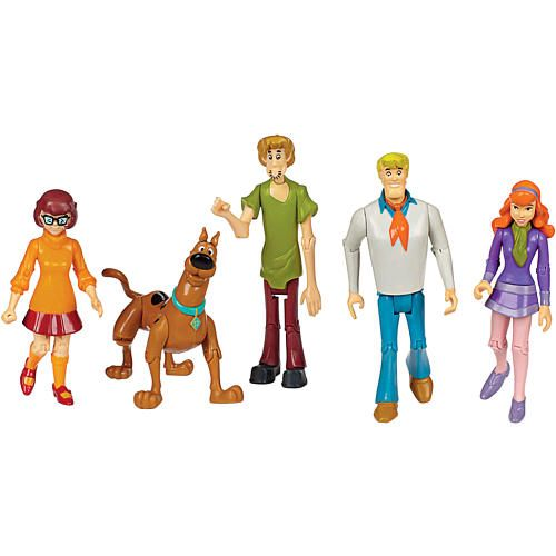 SCOOBY DOO MYSTERY MACHINE VAN & 6 FIGURES BRAND NEW HTF