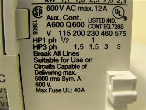18034 NEW Allen Bradley 100 M05N3 Contactor Mini 16 20A |