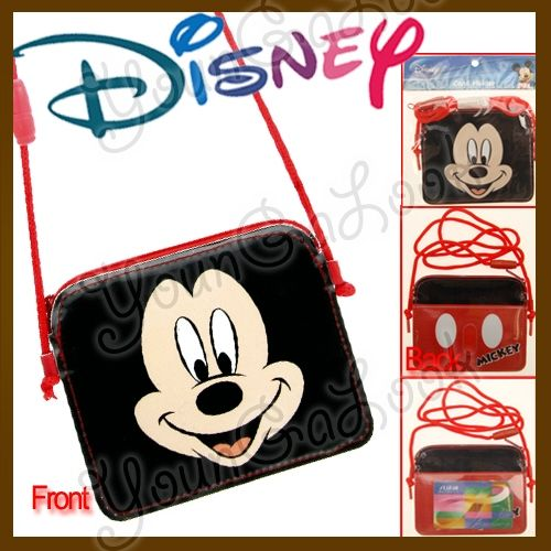 DISNEY MICKEY MOUSE Face Purse ID Card Badge Holder