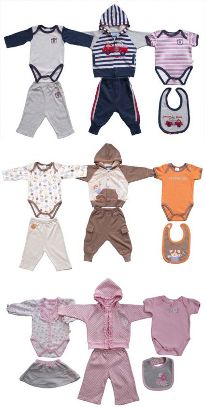 Clothes 6 piece Suit For Baby /Toddler Boys And Girls 3 Choices