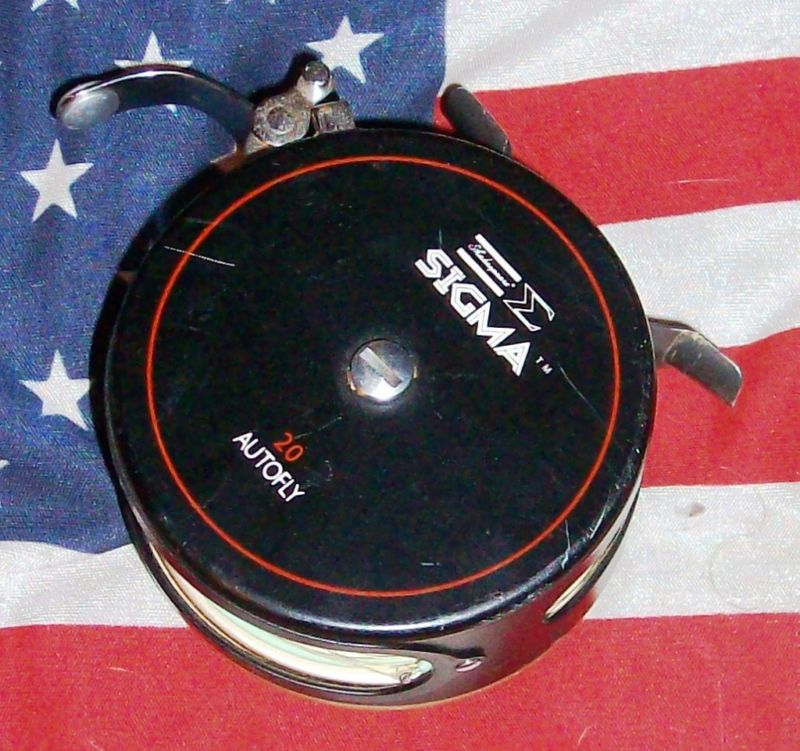 shakespeare sigma 20 autofly fly fishing reel vintage