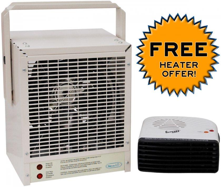 Electric 13,000 BTU Garage Shop Utility Heater Portable Shed Unit 4k W