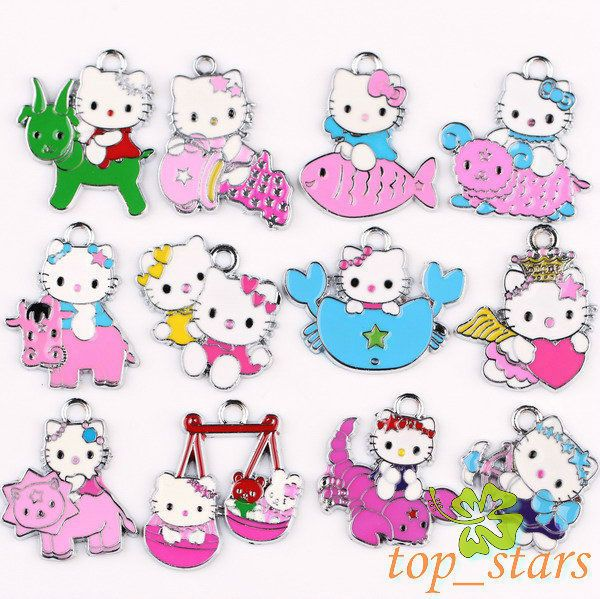 Mix hello kitty CONSTELLATION Pendants Charms 30~21mm TS114