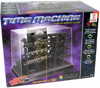 TIME MACHINE Ball ROLLING Bearing CLOCK Kinetic BOX